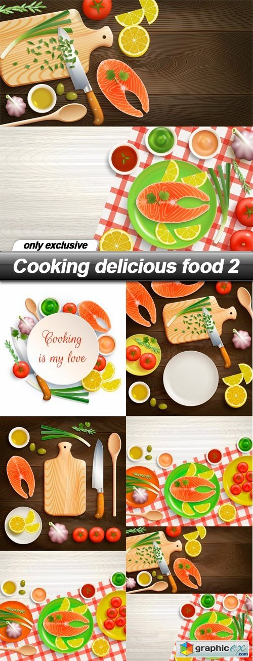 Cooking delicious food 2 - 6 EPS