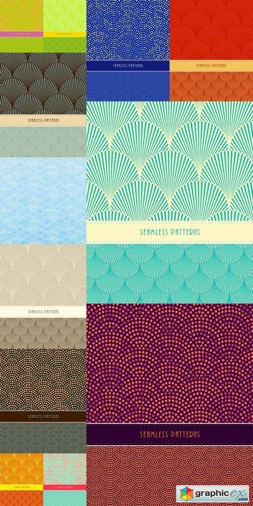 Japanese Style Seamless Patterns