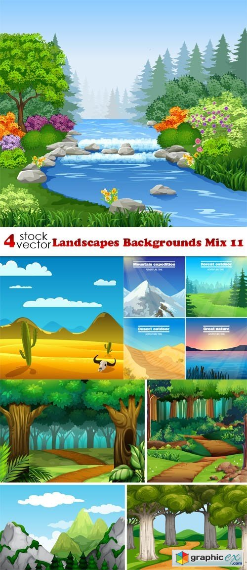 Landscapes Backgrounds Mix 11