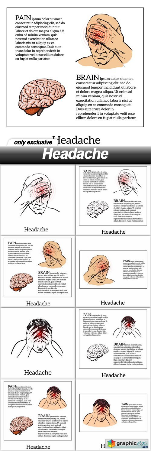 Headache - 8 EPS