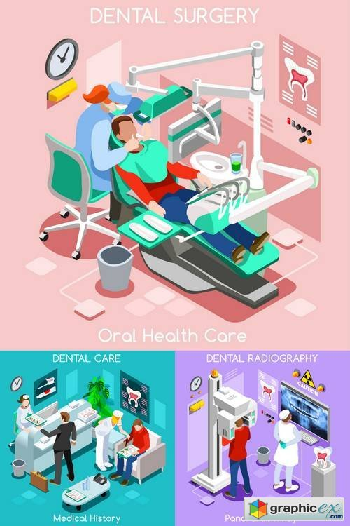Dental Clinic - Flat 3D Isometric