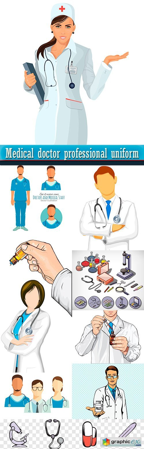 Medical doctor professional uniform