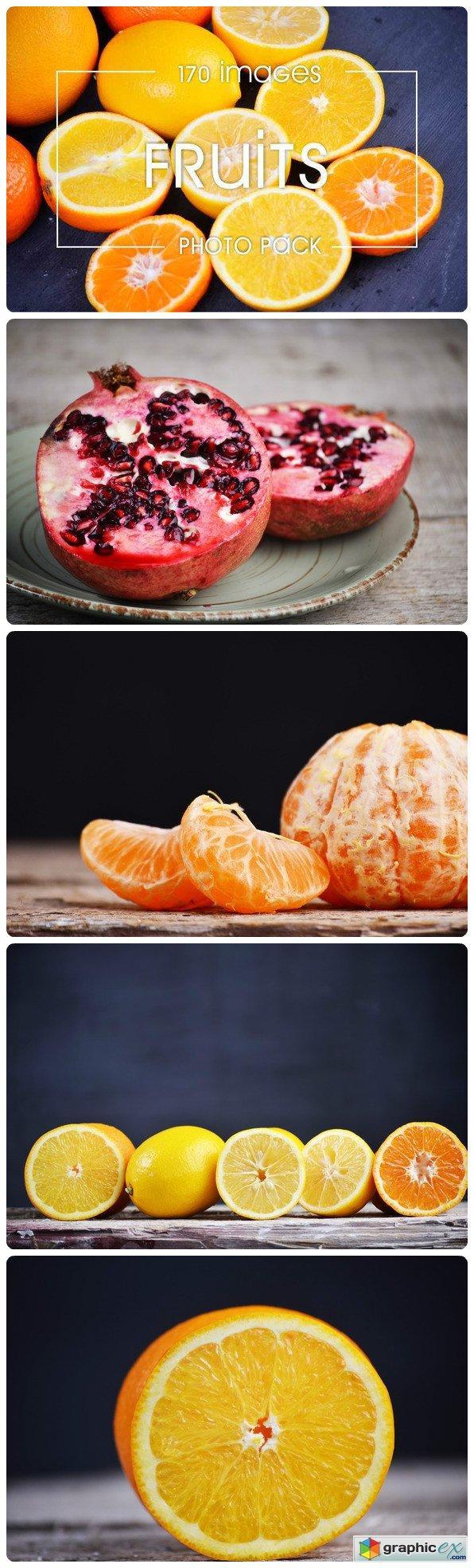 6 poster design photo mockups 57079 - Fruits Photo Pack 170 Img Mockups