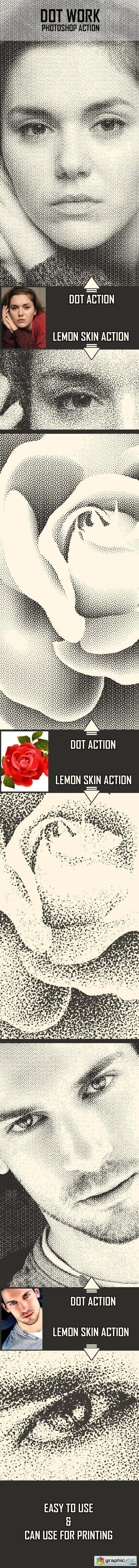 Dot Work Photoshop Action » Free Download Vector Stock Image