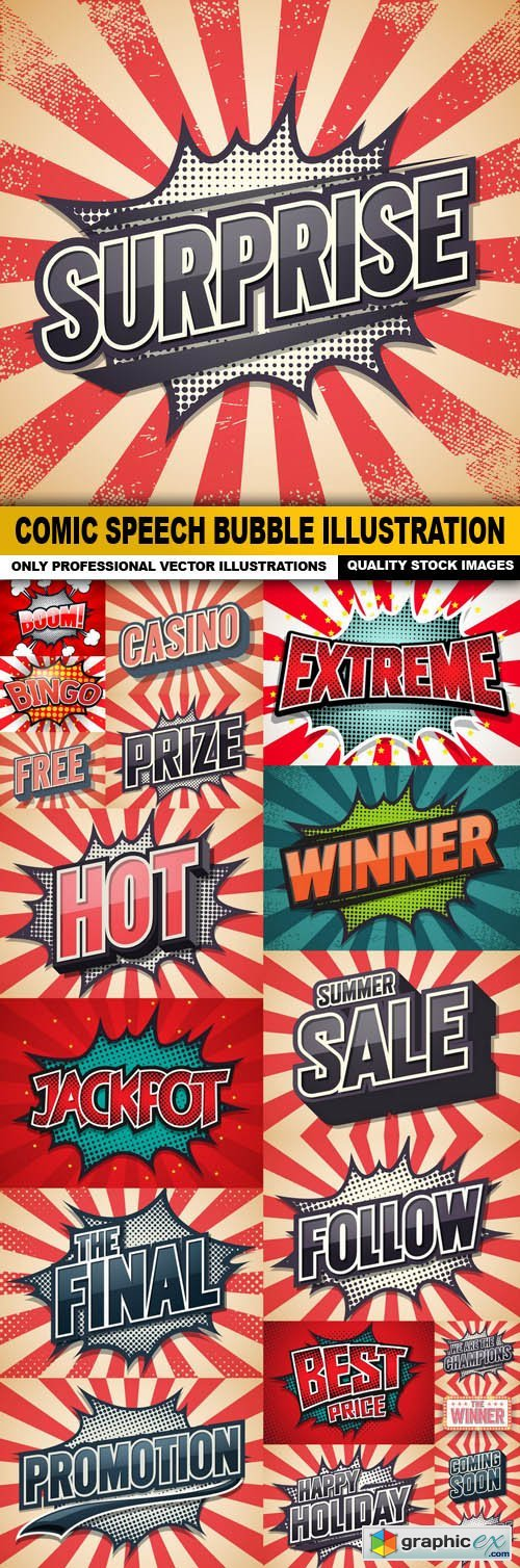 Comic Speech Bubble Illustration