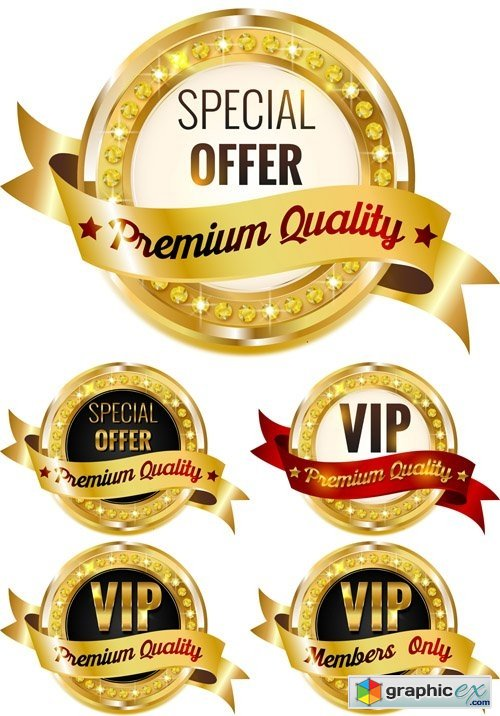 VIP Premium Quality Labels » Free Download Vector Stock
