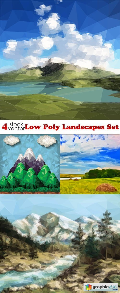 Low Poly Landscapes Set