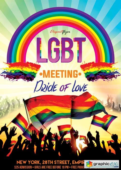 LGBT Meeting V2 Flyer PSD Template + Facebook Cover