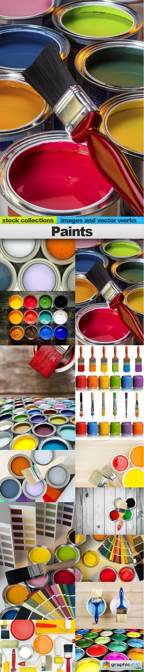 Paints, 15 x UHQ JPEG