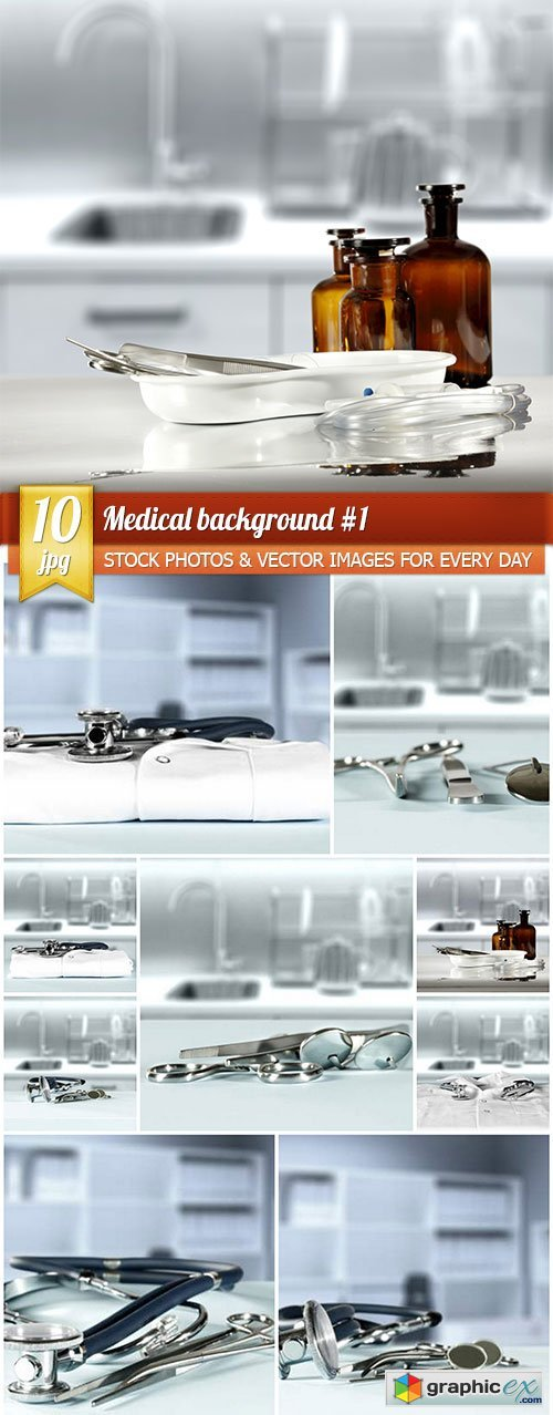 Medical background #1, 10 x UHQ JPEG