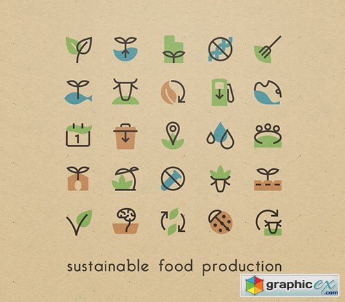 Ai, PNG, SVG Vector Icons - Sustainable Food Production