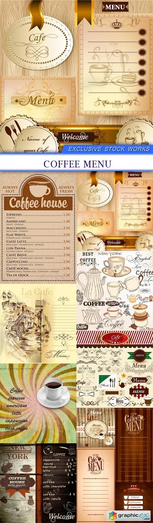 coffee Menu 11X EPS