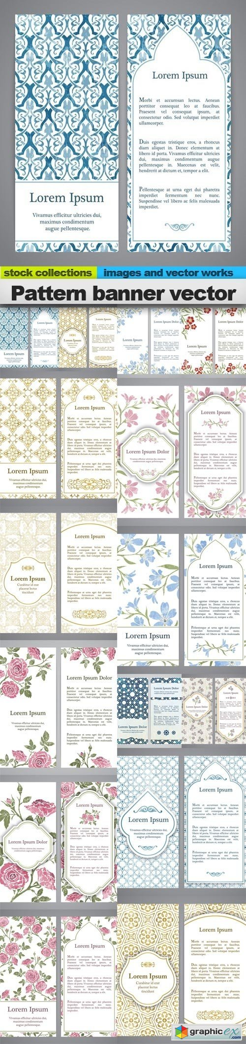 Pattern banner vector, 15 x EPS