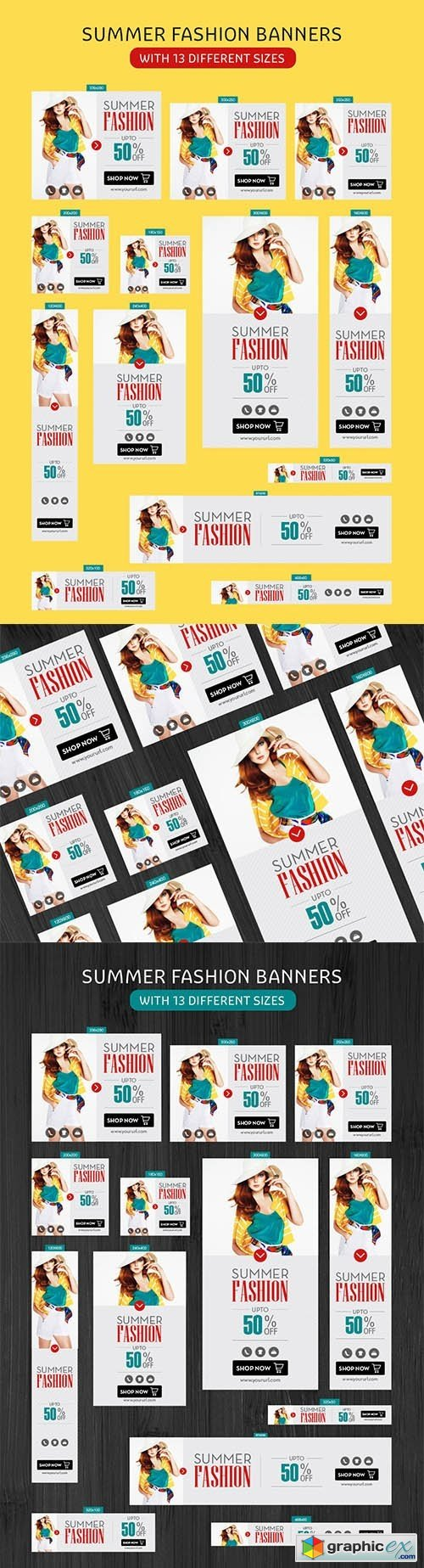 ai vector templates summer fashion banners 2016 free download