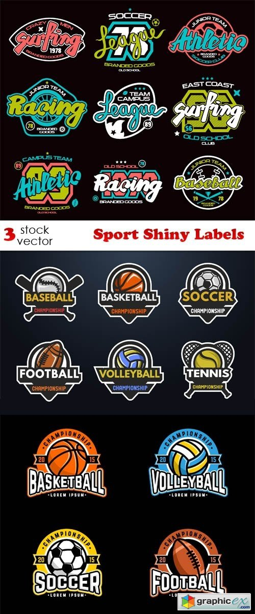 Sport Shiny Labels