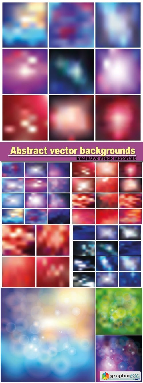Abstract vector backgrounds with reflections