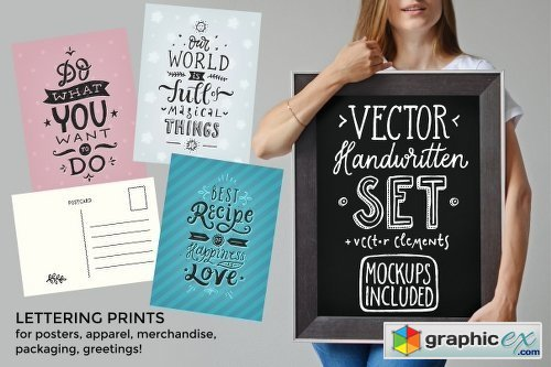 Vector Handwritten Set 699633