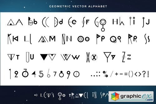 Vector Geometry Space Set 700115