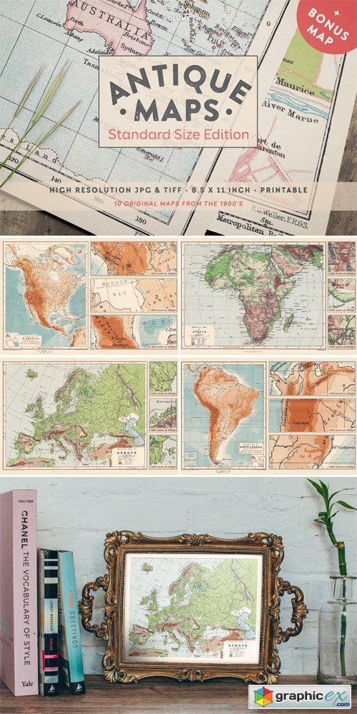 Antique Maps Vol.I - Standard Size