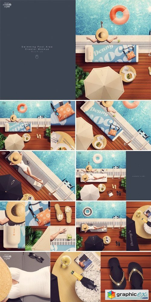 Swimming Pool Scene Creator Mockup