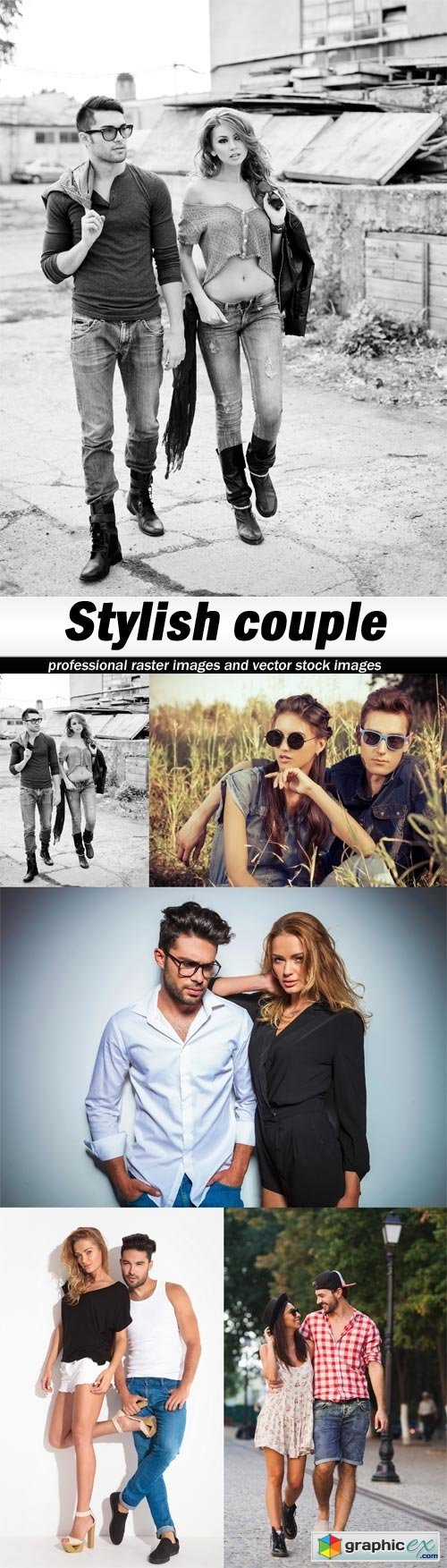 Stylish couple-5xJPEGs