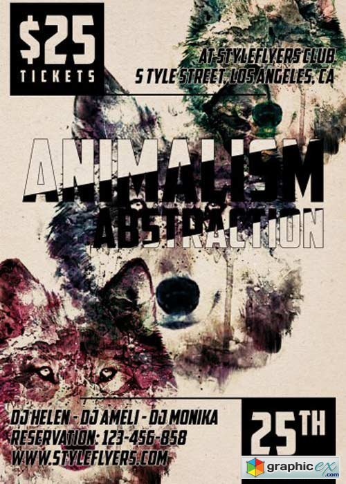 Animalism Absrtaction PSD Flyer Template
