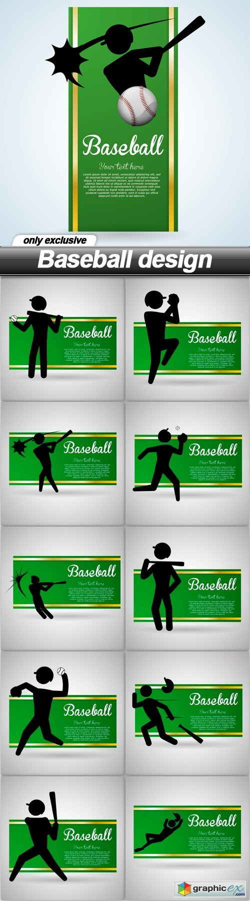 Baseball design - 20 EPS