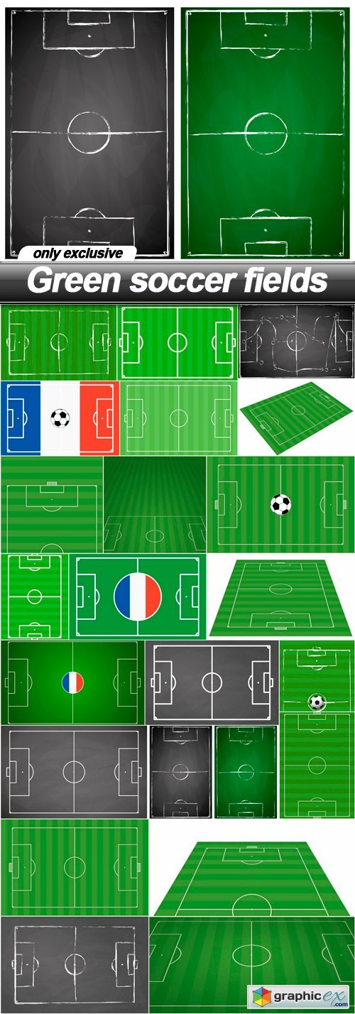 Green soccer fields - 22 EPS