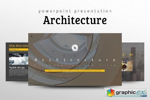 Architecture ppt template free download vector stock image architecture ppt template toneelgroepblik Images