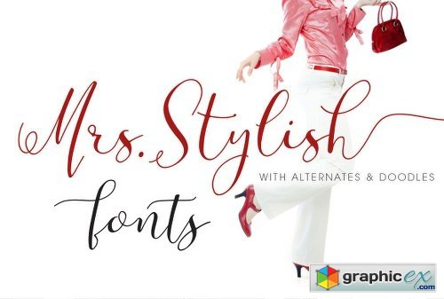 Mrs Stylish Fonts+Extras » Free Download Vector Stock Image