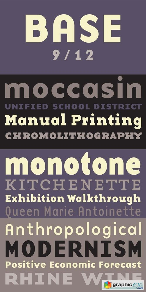 Base 9 and 12 Font Family