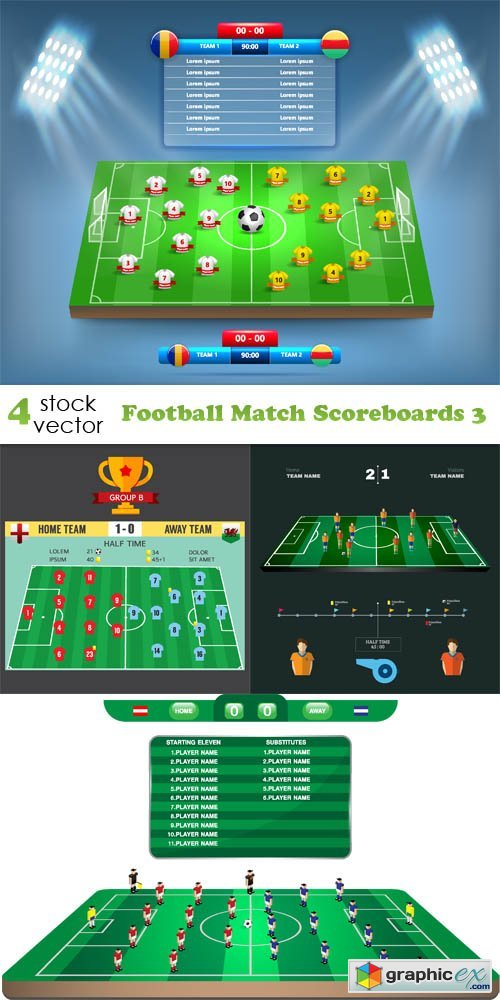 Football Match Scoreboards 3