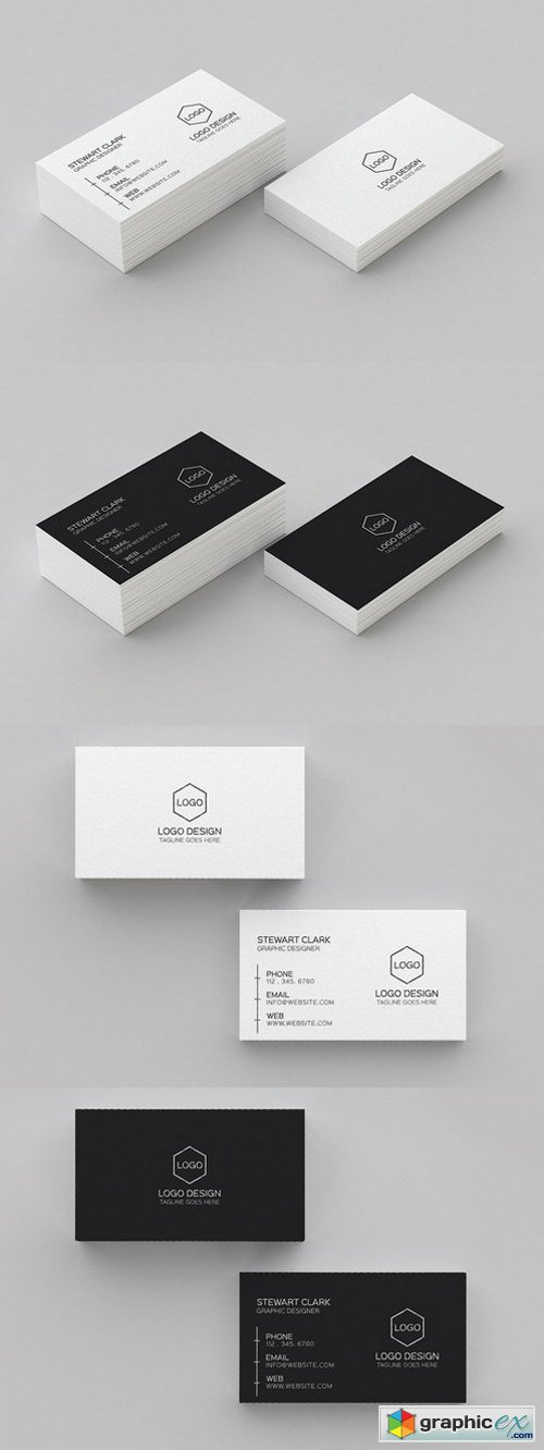 Clean Minimal Business Card Template 394388