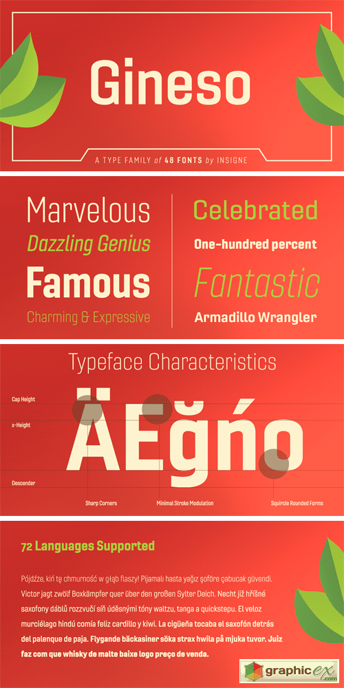 Gineso Font Family