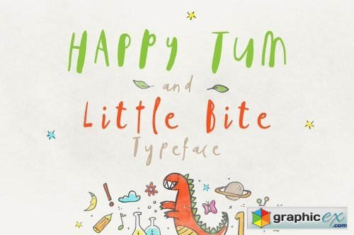 Happy Tum & Little Bite Font