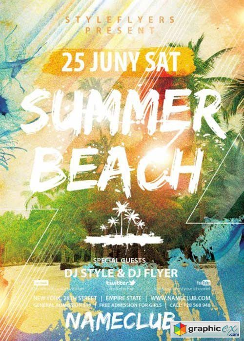 Summer Beach V1 PSD Flyer Template