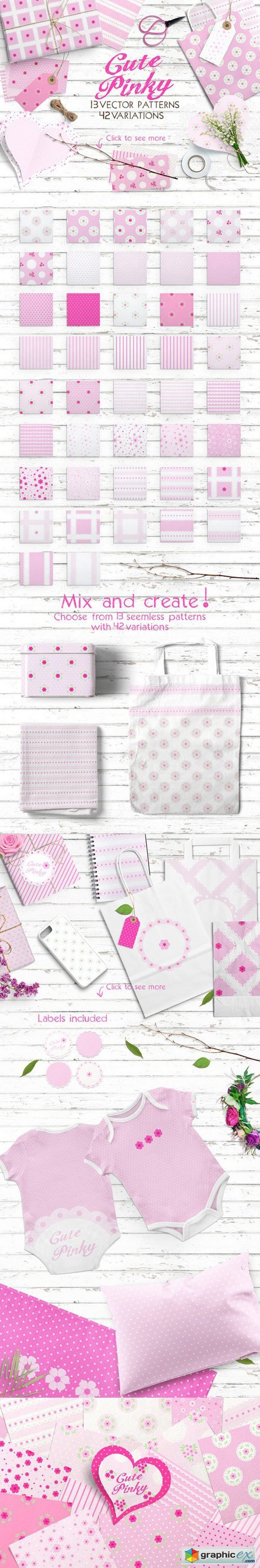 Cute Pinky Patterns Pack