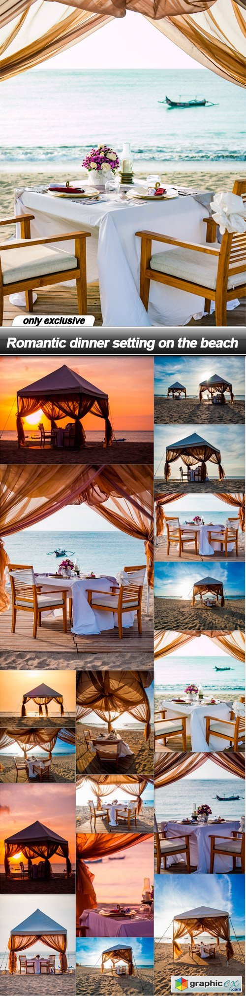 Romantic dinner setting on the beach - 17 UHQ JPEG