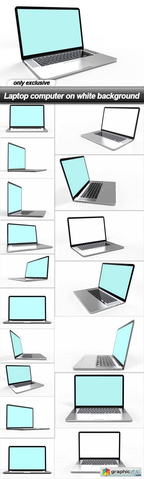 Laptop computer on white background - 17 UHQ JPEG