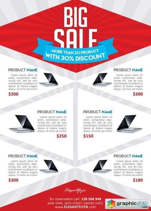 Product Sale Flyer PSD Template + Facebook Cover