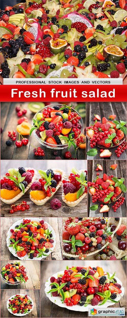 Fresh fruit salad - 10 UHQ JPEG