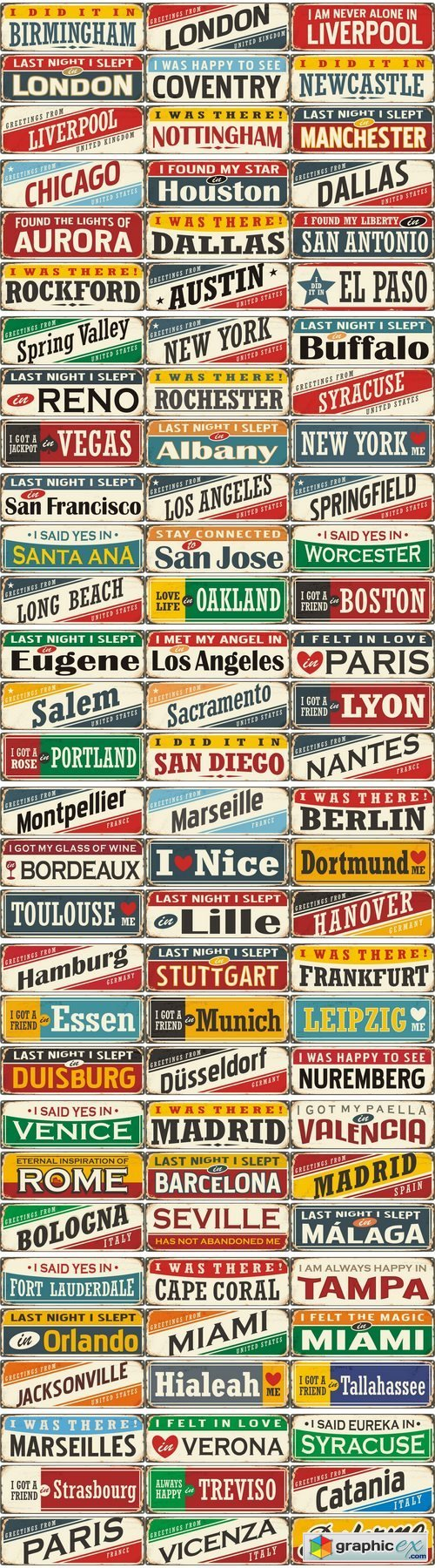 Retro tin sign collection 2