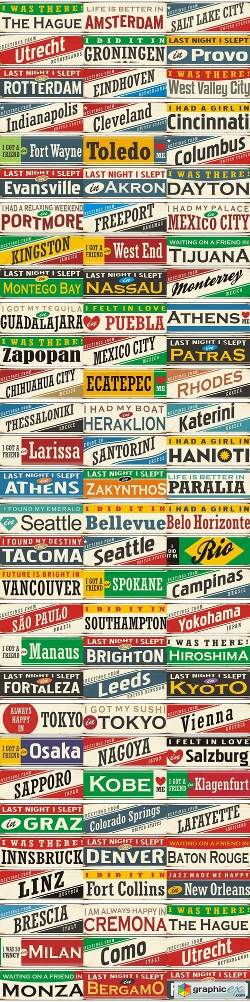 Retro tin sign collection