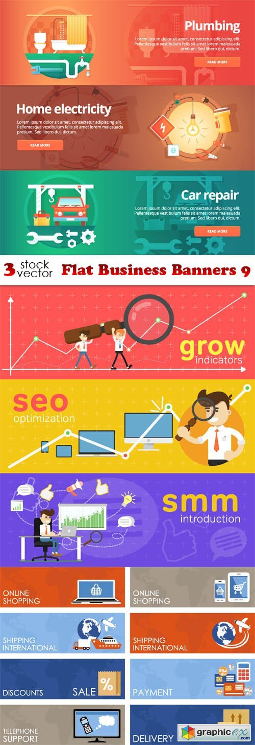Flat Business Banners 9
