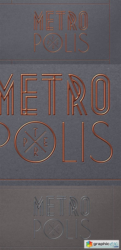 Metropolis PSD Text Effect » Free Download Vector Stock Image