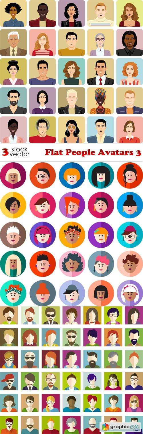 Flat People Avatars 3