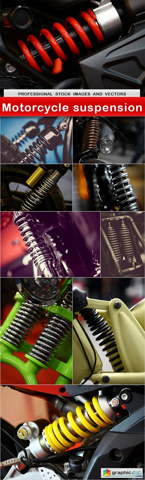 Motorcycle suspension - 10 UHQ JPEG