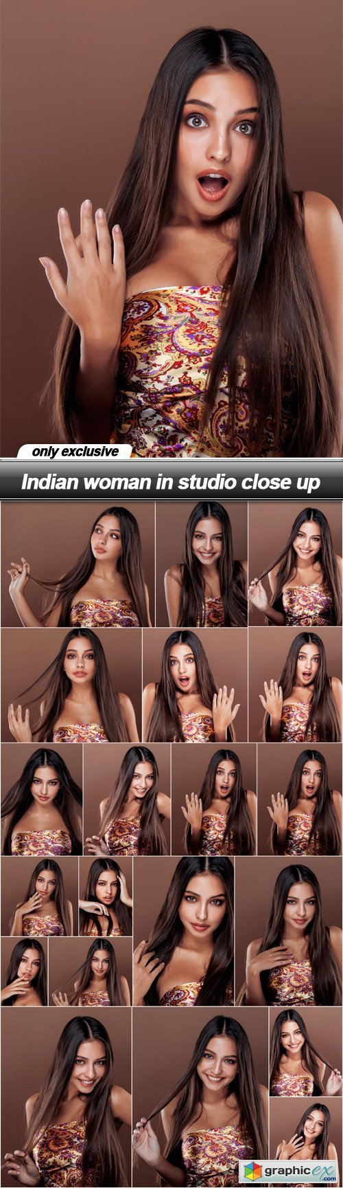 Indian woman in studio close up - 20 UHQ JPEG