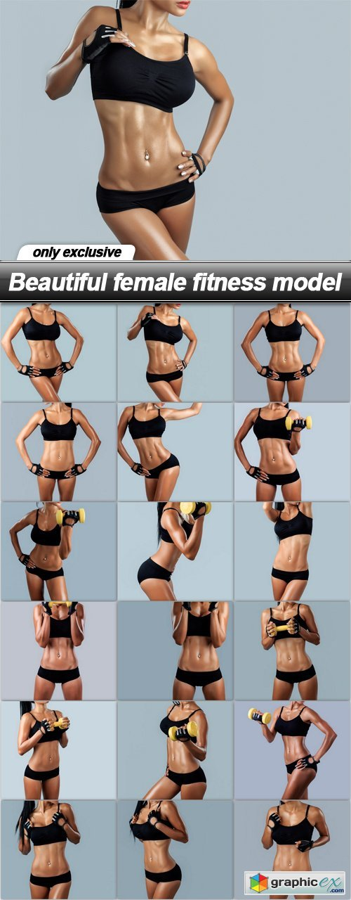 Beautiful female fitness model - 18 UHQ JPEG