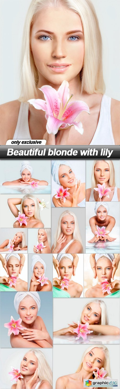 Beautiful blonde with lily - 16 UHQ JPEG